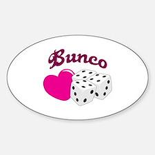 I LOVE BUNCO Decal