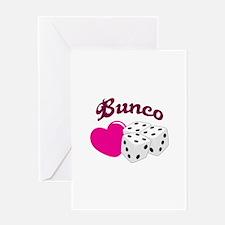 I LOVE BUNCO Greeting Cards