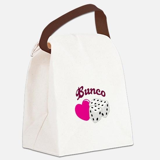 I LOVE BUNCO Canvas Lunch Bag
