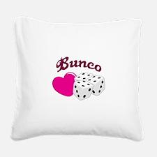 I LOVE BUNCO Square Canvas Pillow