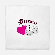 I LOVE BUNCO Queen Duvet