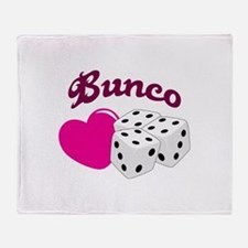 I LOVE BUNCO Throw Blanket
