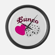 I LOVE BUNCO Large Wall Clock