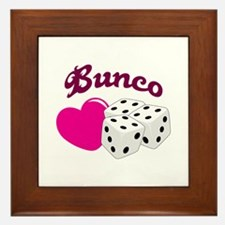 I LOVE BUNCO Framed Tile