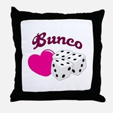 I LOVE BUNCO Throw Pillow