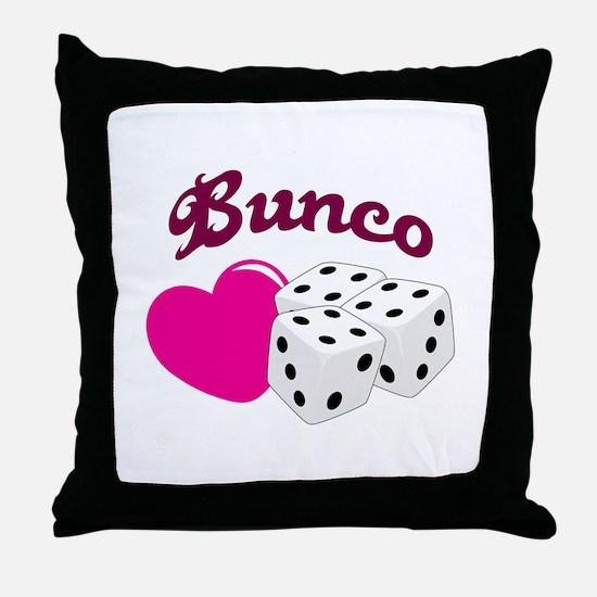 I LOVE BUNCO Throw Pillow