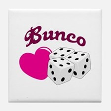 I LOVE BUNCO Tile Coaster