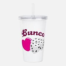 I LOVE BUNCO Acrylic Double-wall Tumbler