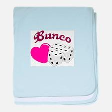 I LOVE BUNCO baby blanket