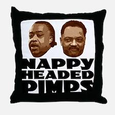 Nappy Headed Pimps Throw Pillow