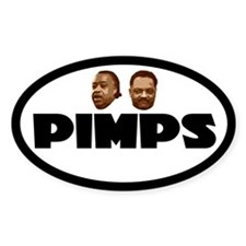 Nappy Headed Pimps Oval Decal