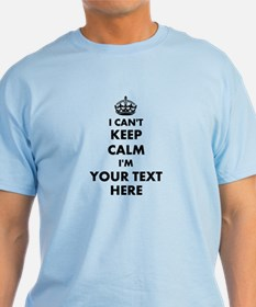 Personalized I Cant Keep Calm T-Shirt | Light Blue