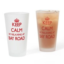 Keep calm by relaxing at Bay Road M Drinking Glass