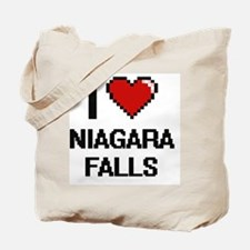 I love Niagara Falls digital design Tote Bag
