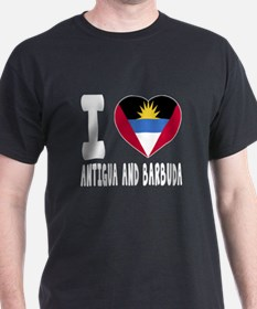 I Love Antigua and Barbuda T-Shirt
