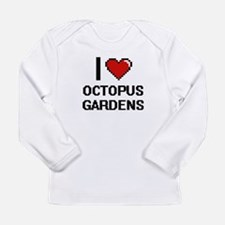 I love Octopus Gardens digital Long Sleeve T-Shirt