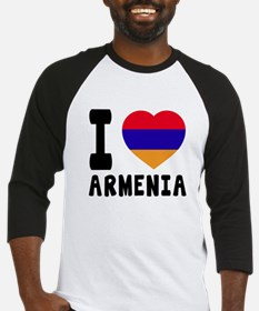 I Love Armenia Baseball Jersey