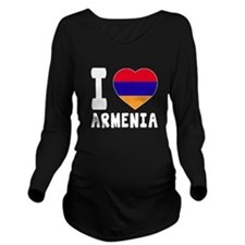 I Love Armenia Long Sleeve Maternity T-Shirt