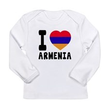 I Love Armenia Long Sleeve Infant T-Shirt