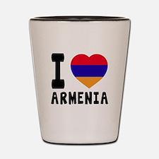 I Love Armenia Shot Glass