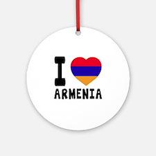 I Love Armenia Round Ornament