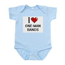 I love One-Man Bands digital design Body Suit