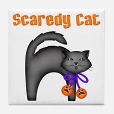 Scaredy Cat Tile Coaster