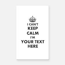I cant keep calm Rectangle Car Magnet