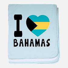I Love Bahamas baby blanket