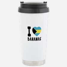 I Love Bahamas Travel Mug