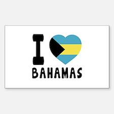 I Love Bahamas Decal