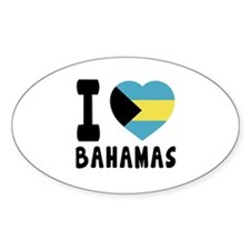 I Love Bahamas Decal