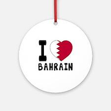 I Love Bahrain Round Ornament