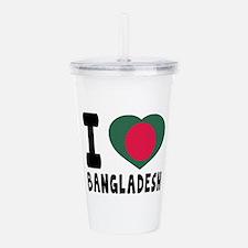 I Love Bangladesh Acrylic Double-wall Tumbler