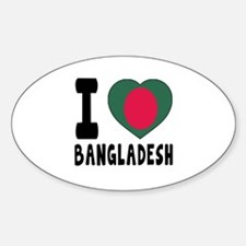 I Love Bangladesh Decal