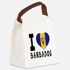 I Love Barbados Canvas Lunch Bag