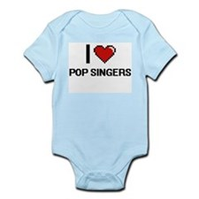I love Pop Singers digital design Body Suit