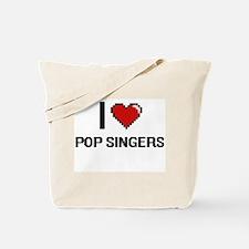 I love Pop Singers digital design Tote Bag