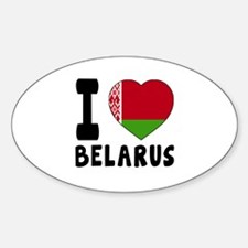 I Love Belarus Decal