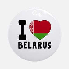 I Love Belarus Round Ornament