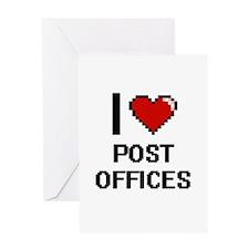 I love Post Offices digital design Greeting Cards