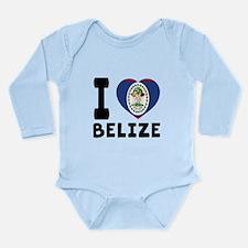 I Love Belize Long Sleeve Infant Bodysuit