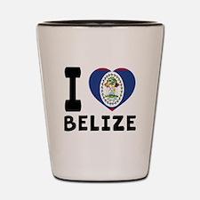 I Love Belize Shot Glass