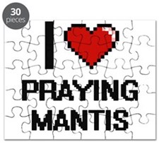 I love Praying Mantis digital design Puzzle