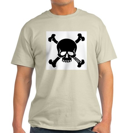 Zagg Skull and Crossbones Ash Grey T-Shirt