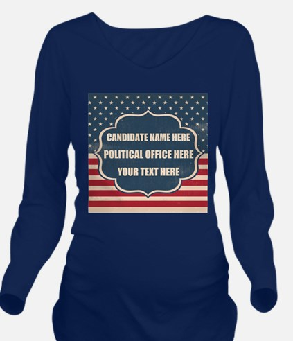 Personalized USA Pre Long Sleeve Maternity T-Shirt