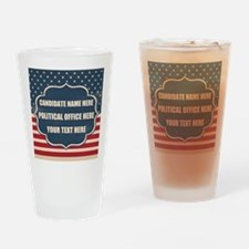 Personalized USA President Drinking Glass