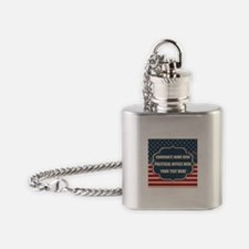 Personalized USA President Flask Necklace