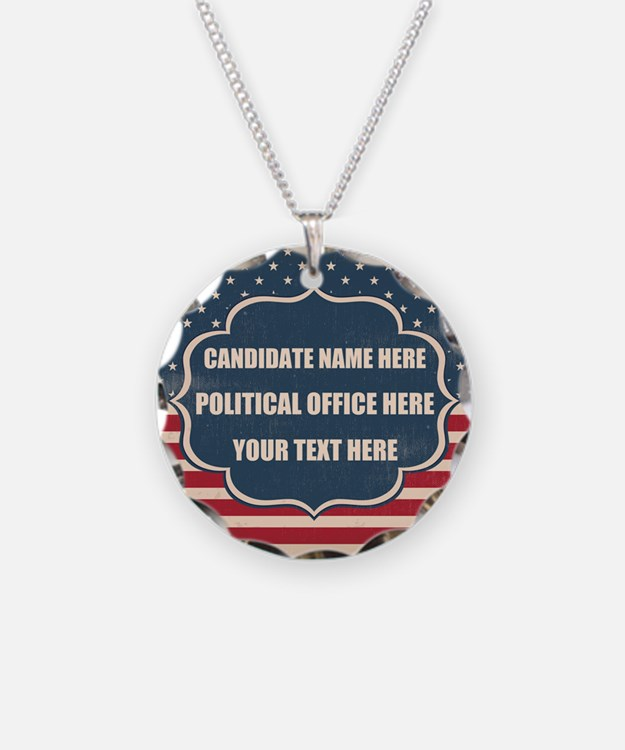 Personalized USA President Necklace
