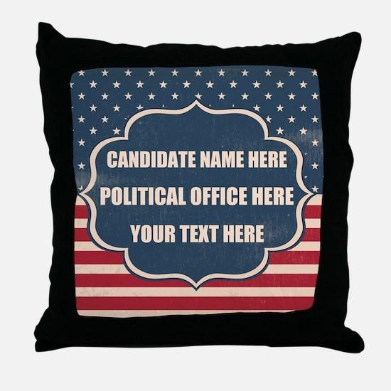 Personalized USA President Throw Pillow